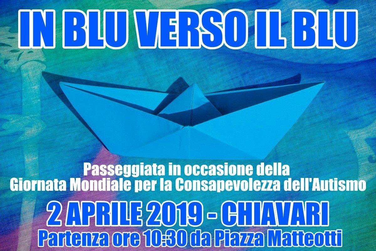 """""""In blu verso il blu"""": il 2 aprile passeggiata per le vie di Chiavari in occasione della Giornata Mondiale per la Consapevolezza dell'Autismo 2019"""