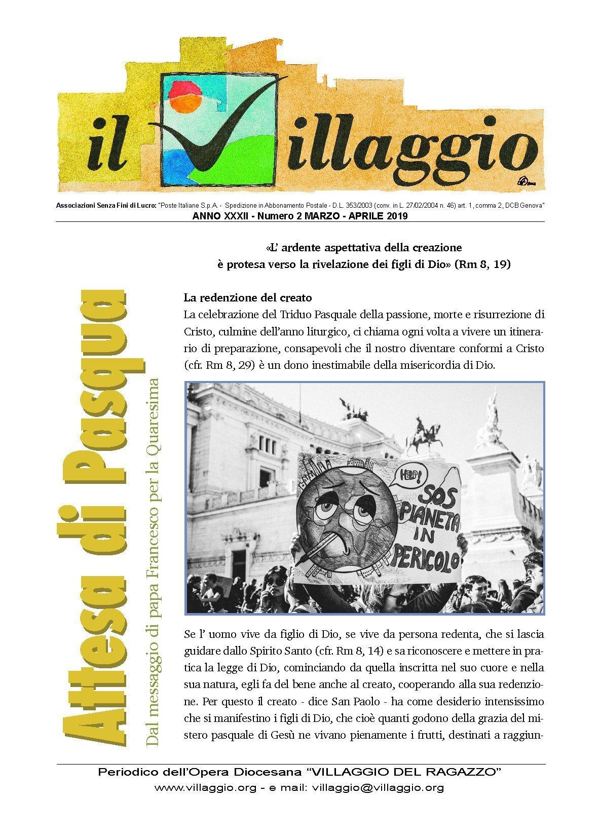Periodico Il Villaggio 2019.03-04 Copertina