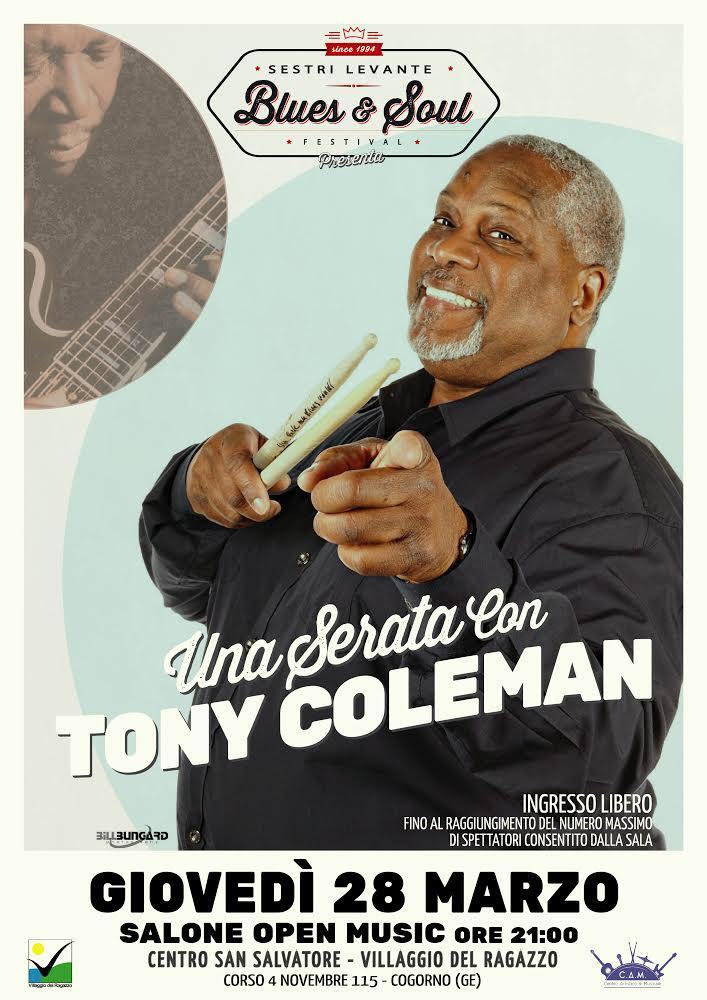 Al Villaggio del Ragazzo incontro con il grande batterista blues Tony Coleman