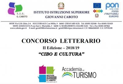 Seconda edizione concorso letterario Cibo e Cultura - Accademia del Turismo e Istituto Caboto