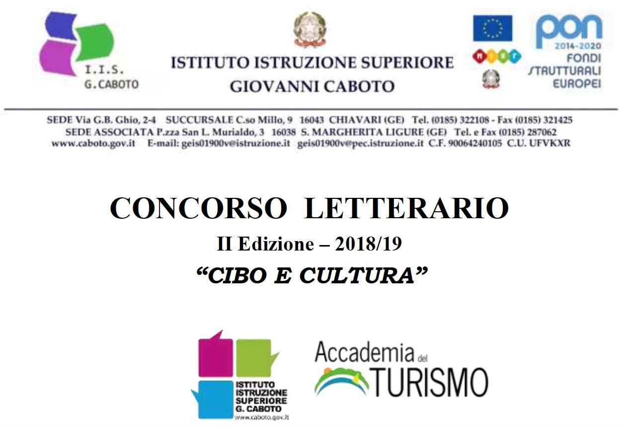 """Al via la seconda edizione del concorso letterario """"Cibo e Cultura"""" per racconti brevi e ricette promosso da Accademia del Turismo e Istituto Caboto"""