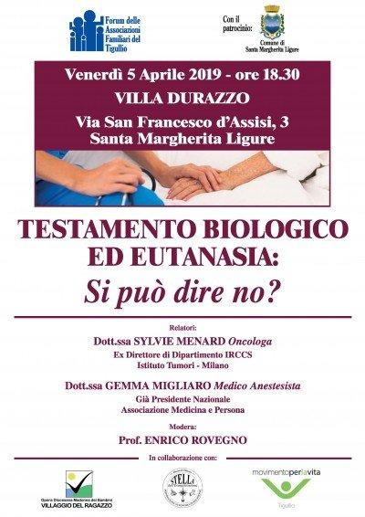 Testamento biologico ed eutanasia, si può dire di no_ - Locandina