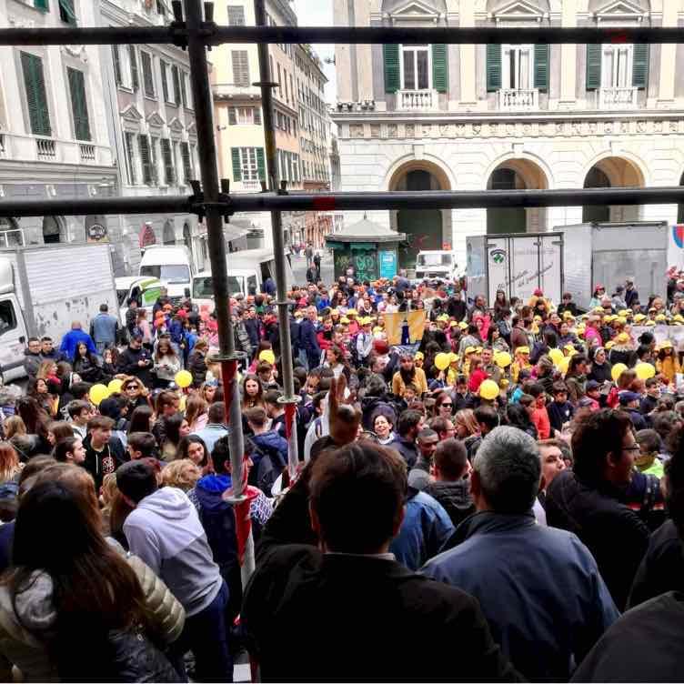 Gli allievi del CFP Spinelli alla Giornata della Scuola paritaria, statale e della formazione professionale di Genova