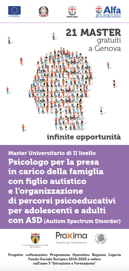 Sabato 11 maggio 2019 al Centro Acquarone incontro conclusivo del Master Universitario per psicologi dedicato all'autismo