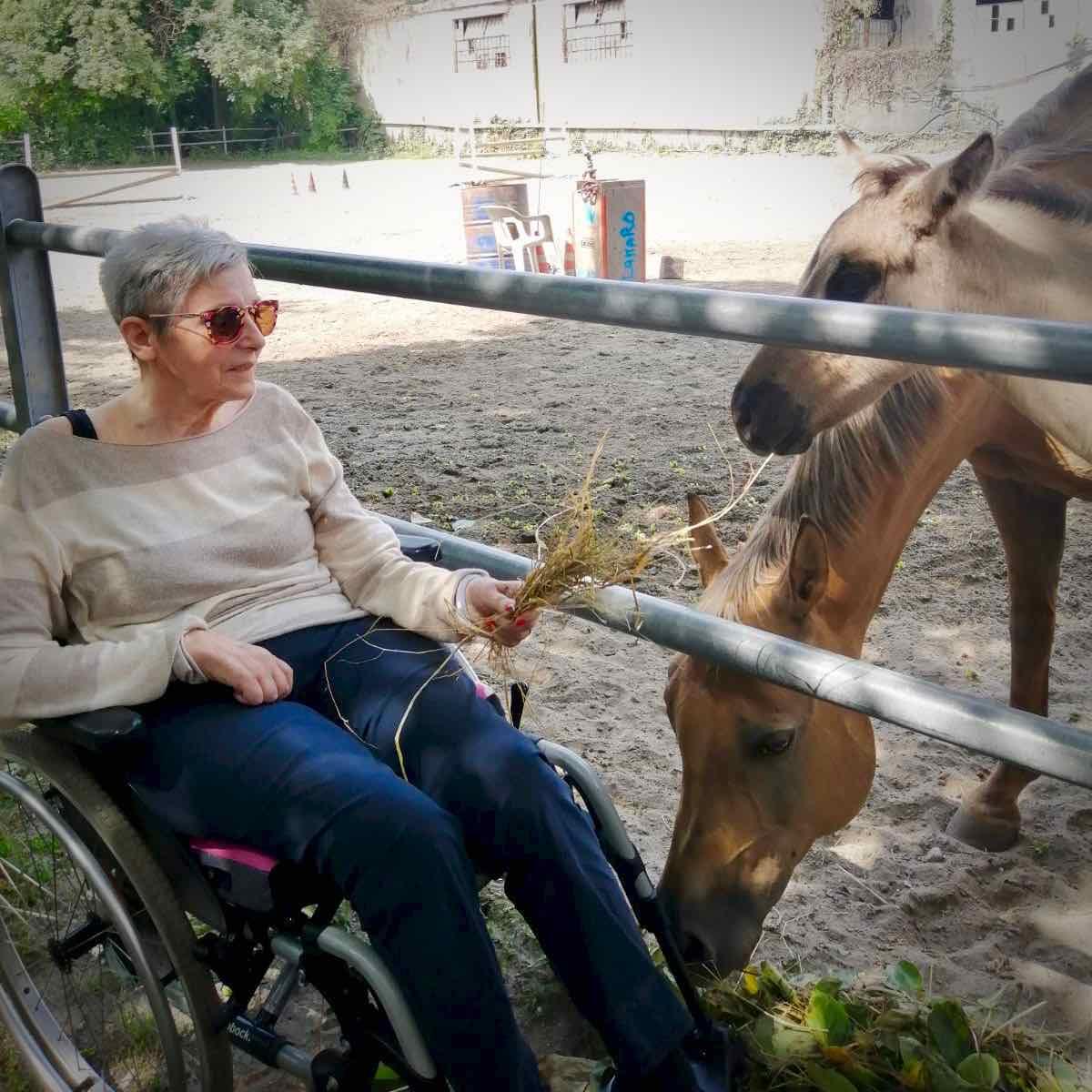 """Tra i cavalli del maneggio """"El Rancho"""" di Carasco con gli ospiti dell'Area Anziani"""
