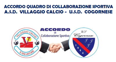 Accordo sportivo tra Asd Villaggio Calcio e Usd Cogornese