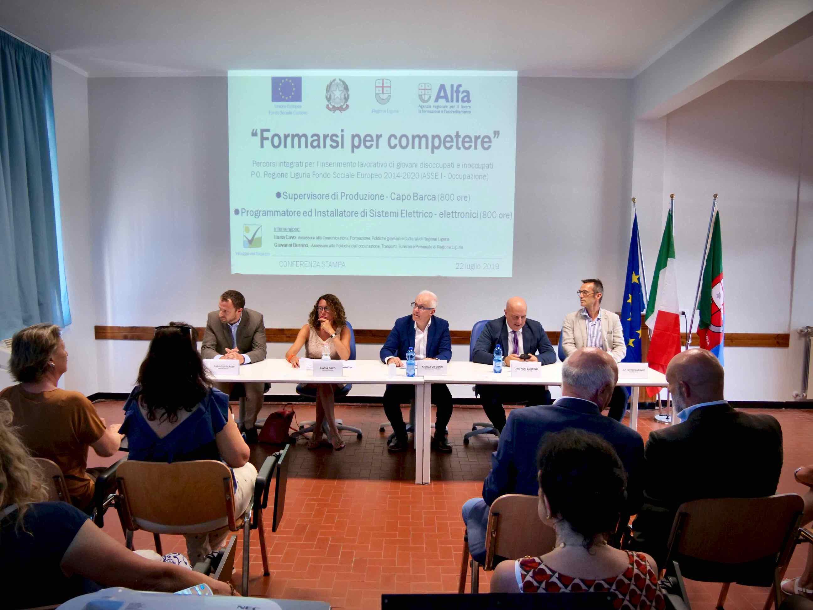Conferenza Stampa presentazione Corsi Formarsi per Competere 2019.07.22 - 1