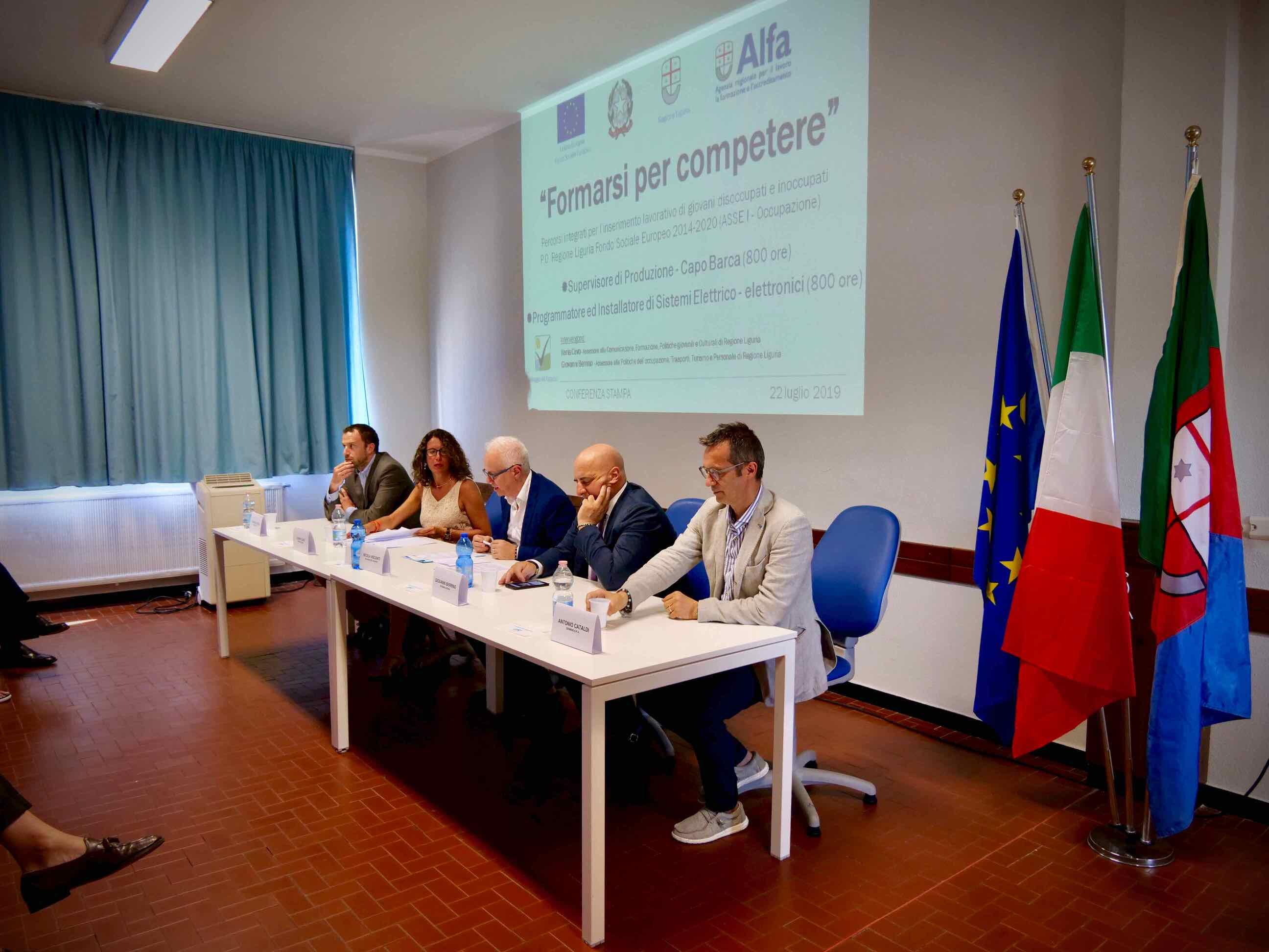 Conferenza Stampa presentazione Corsi Formarsi per Competere 2019.07.22 - 2