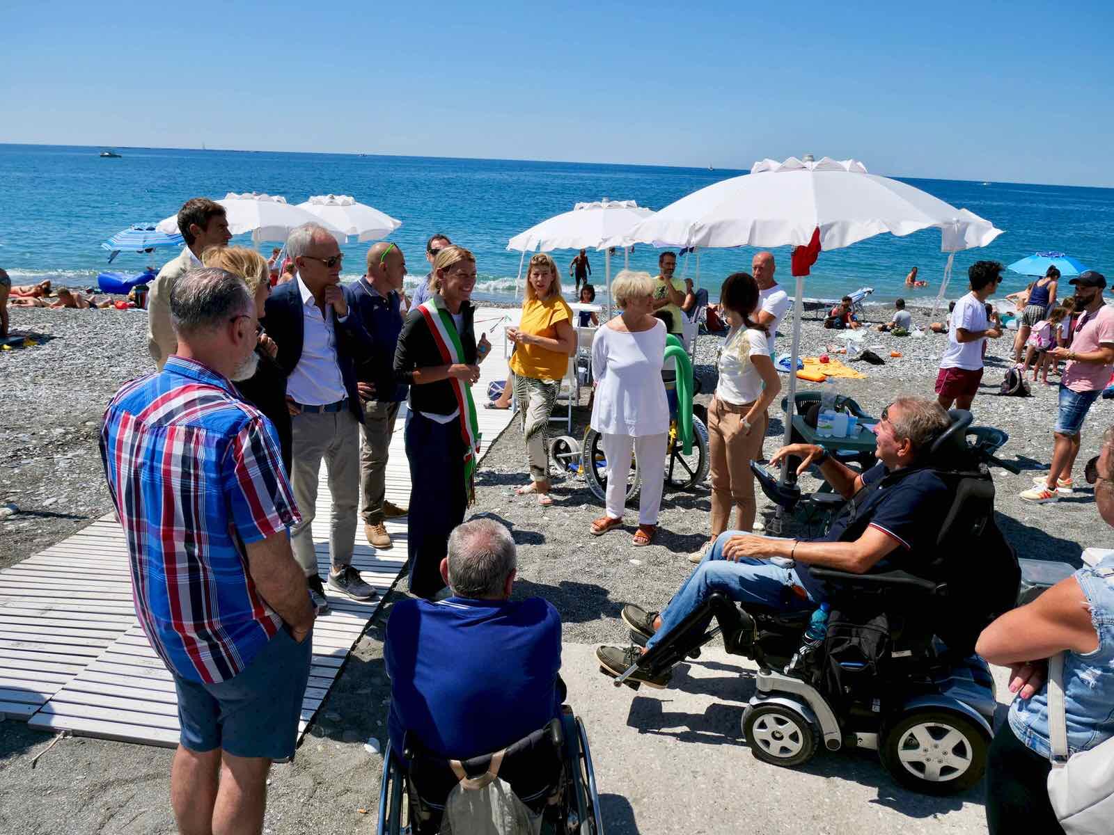 Inaugurazione spiaggia attrezzata di Lavagna per persone disabili 2019.07.16 - 1
