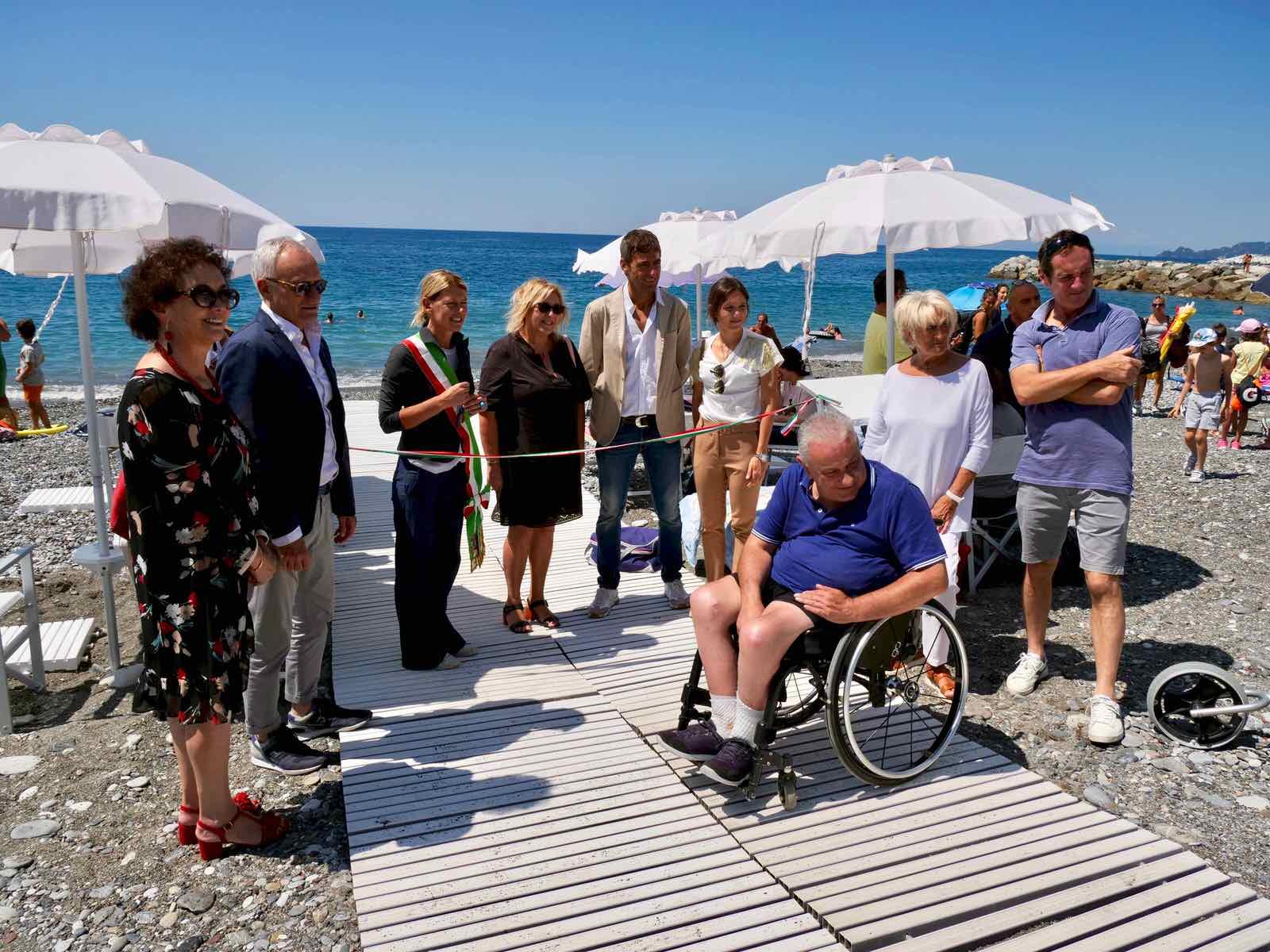 Inaugurazione spiaggia attrezzata di Lavagna per persone disabili 2019.07.16 - 2