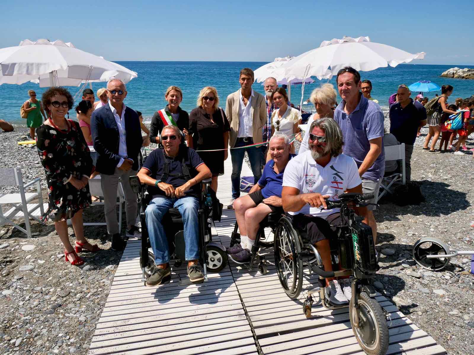 Inaugurazione spiaggia attrezzata di Lavagna per persone disabili 2019.07.16 - 3