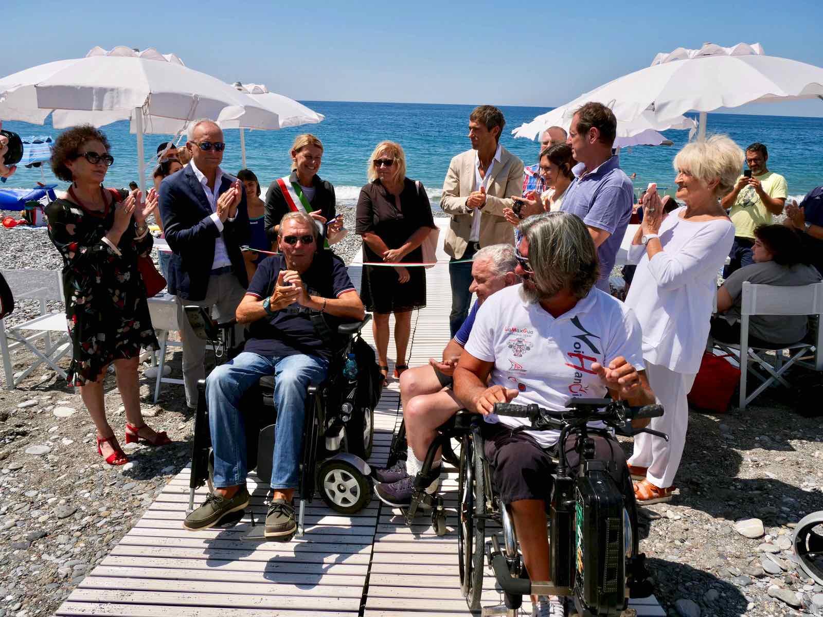 Inaugurazione spiaggia attrezzata di Lavagna per persone disabili 2019.07.16 - 4