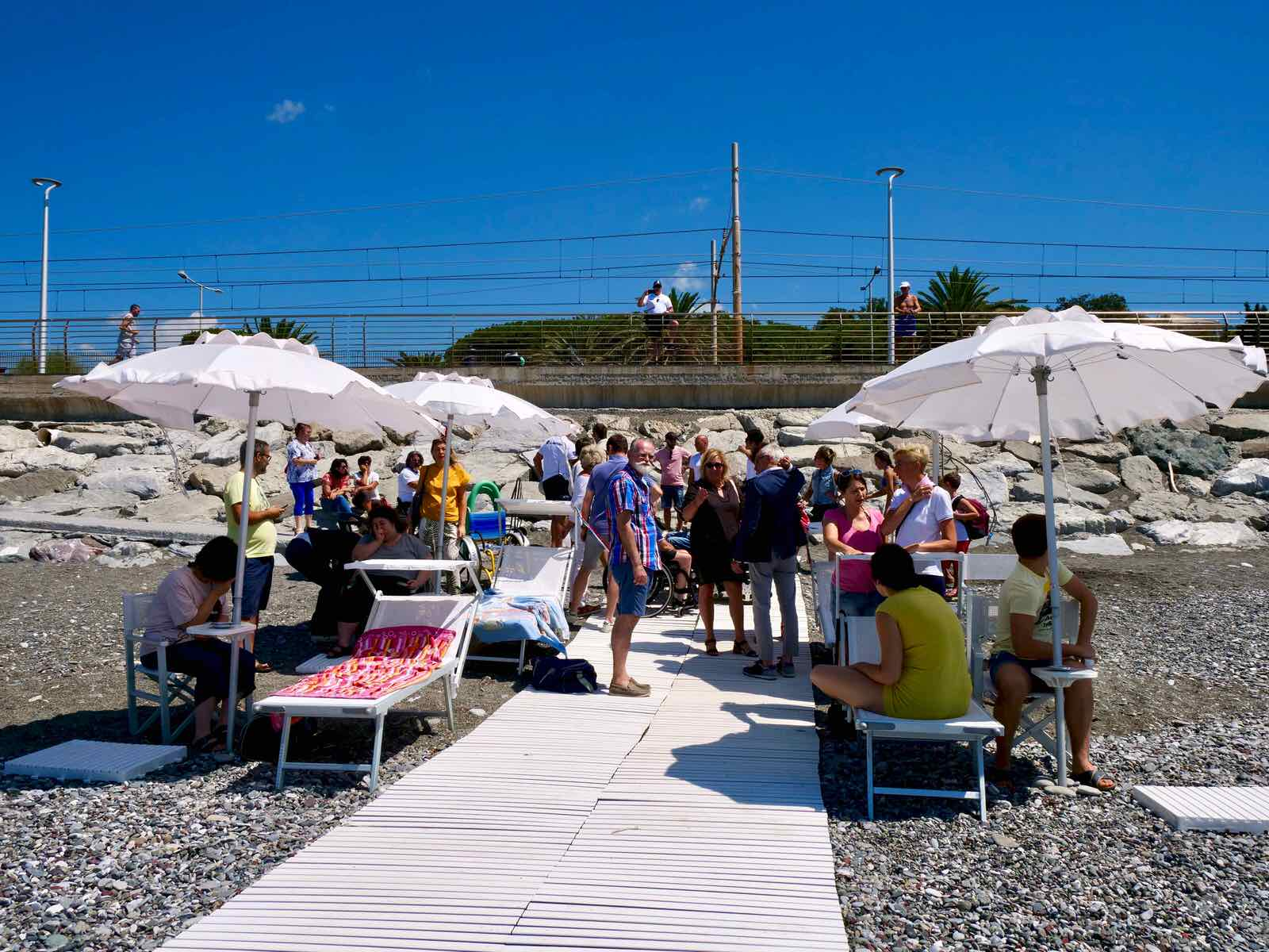 Inaugurazione spiaggia attrezzata di Lavagna per persone disabili 2019.07.16 - 7