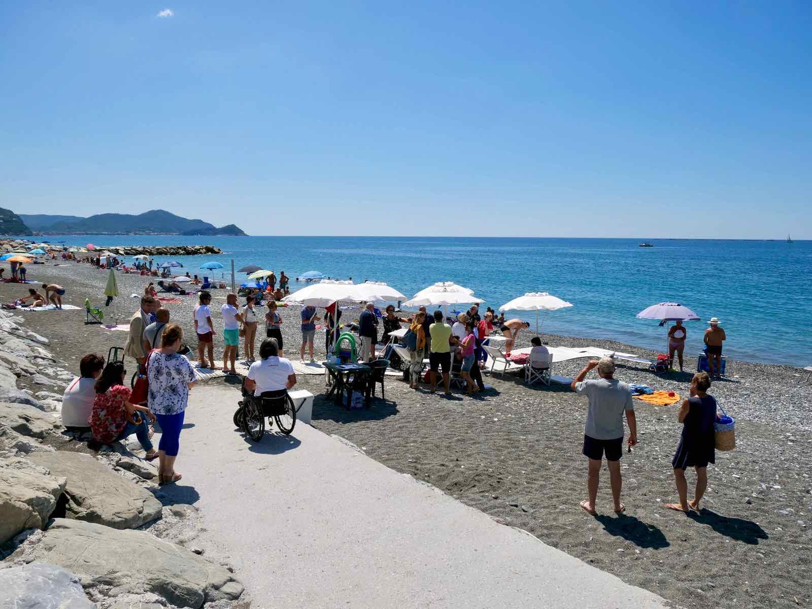 Inaugurazione spiaggia attrezzata di Lavagna per persone disabili 2019.07.16 - 9