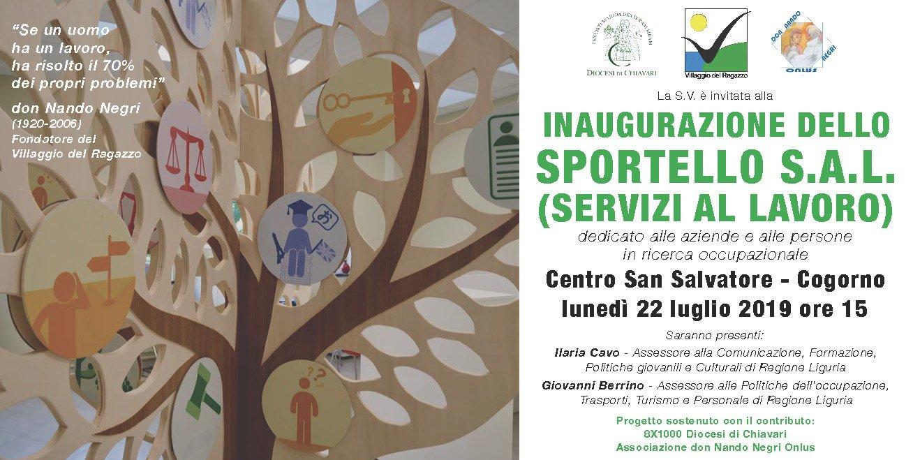 Invito inaugurazione Sportello SAL