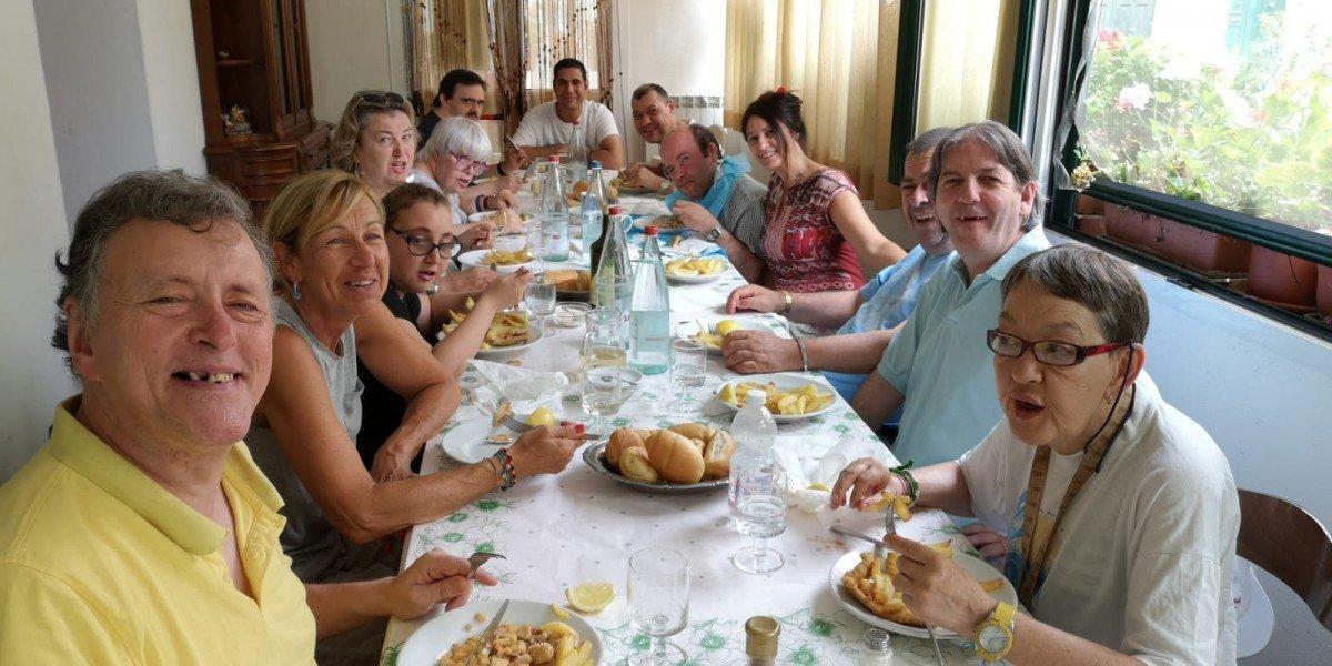 Talenti all'Opera a pranzo alla Trattoria Rocchin di Borzonasca 2019.07.11