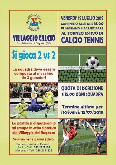 Villaggio Calcio - Locandina 1° Torneo Calcio Tennis 2019