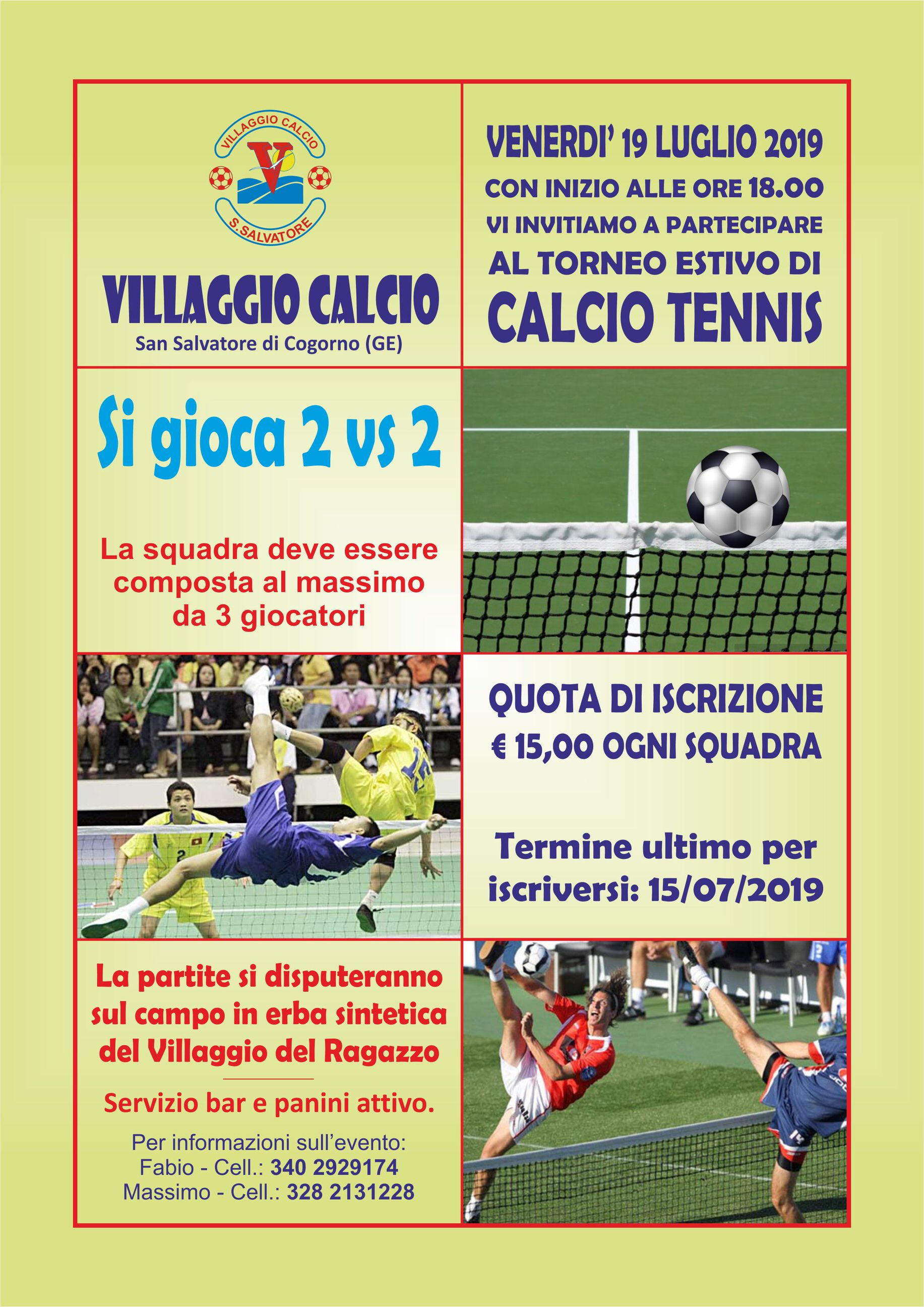 Villaggio Calcio: al Centro San Salvatore primo Torneo di Calcio Tennis 2 vs 2