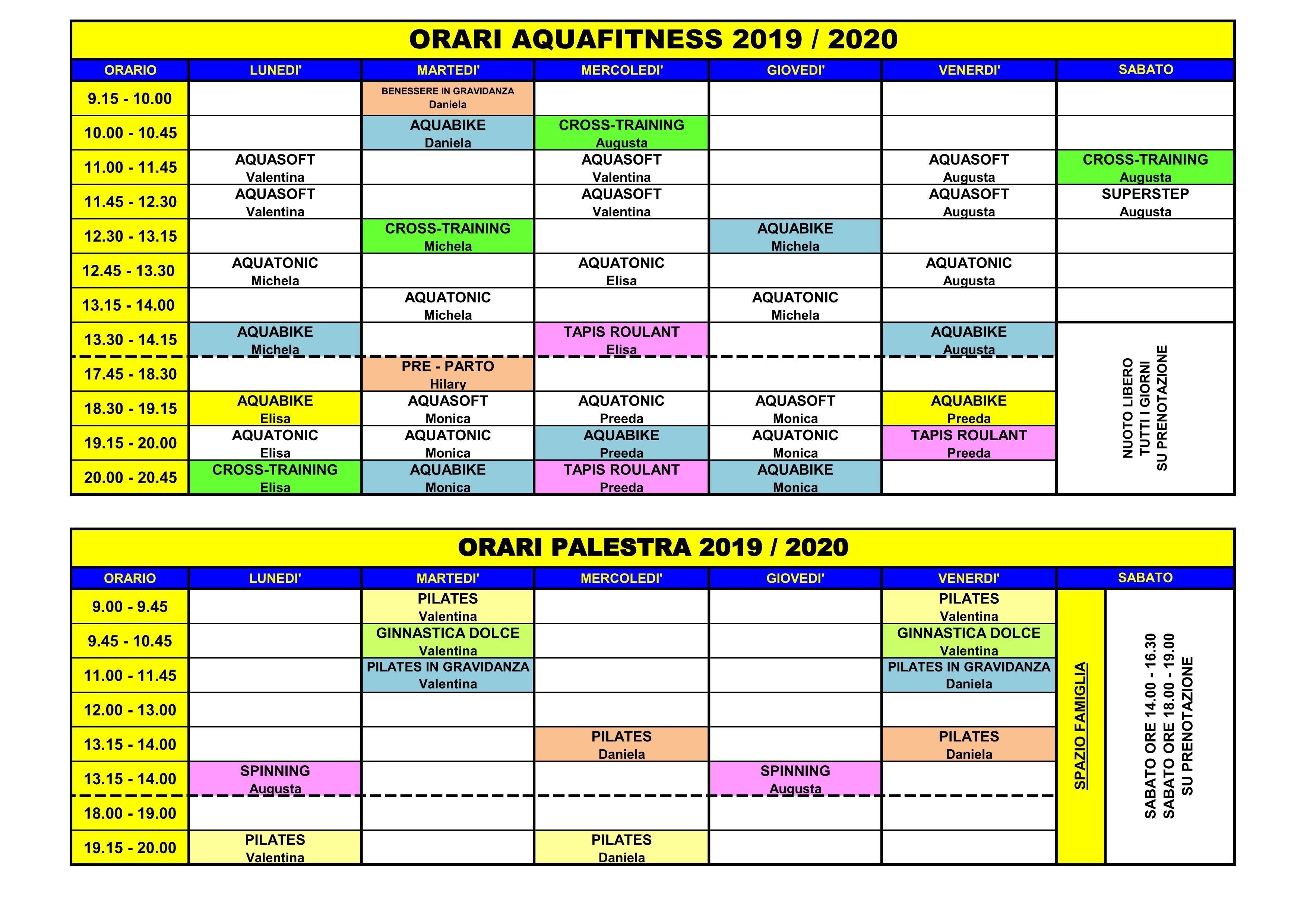 Acquarone Sport - Fitness 2019-2020