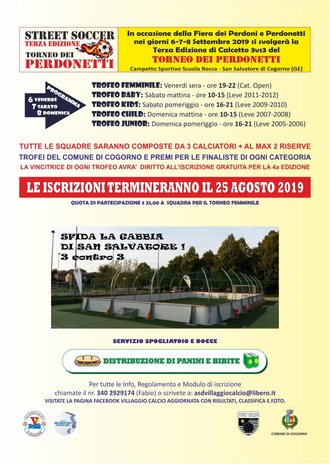 Street soccer: 3° edizione Torneo dei Perdonetti a cura di Villaggio Calcio