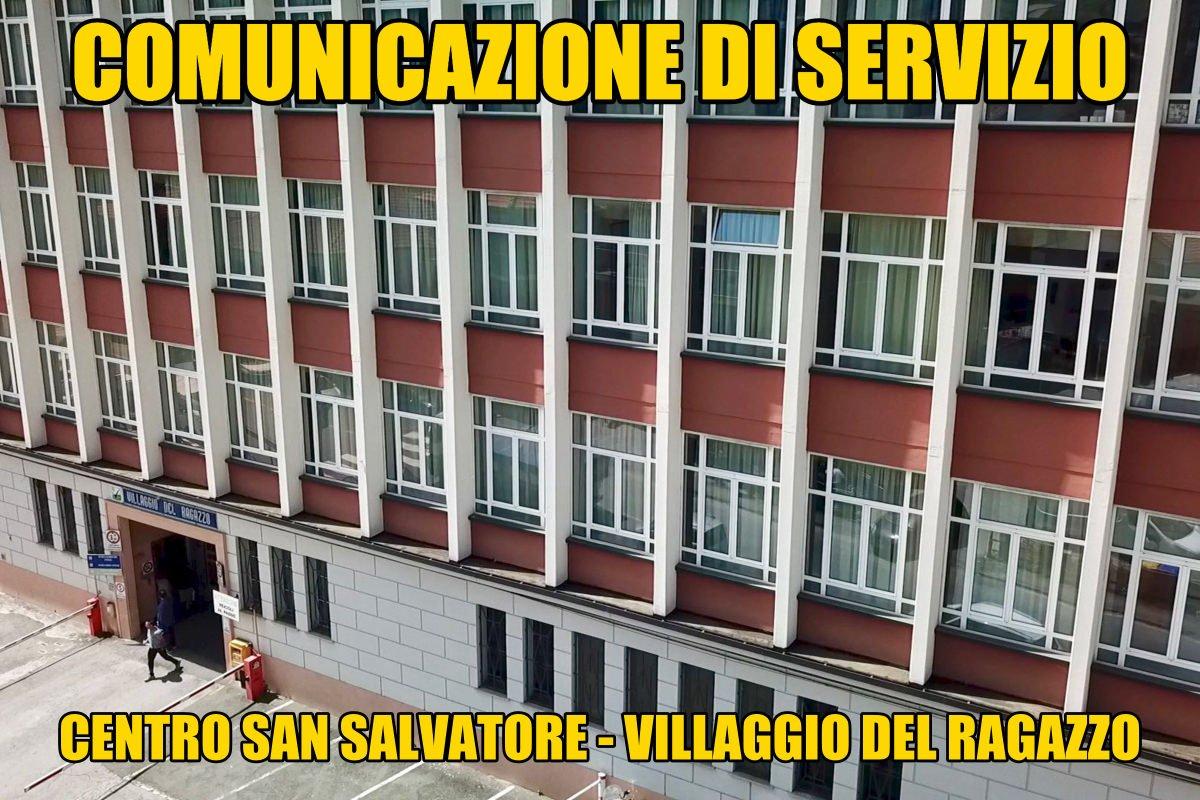 Centro San Salvatore – Villaggio del Ragazzo: rete telefonica fissa fuori servizio
