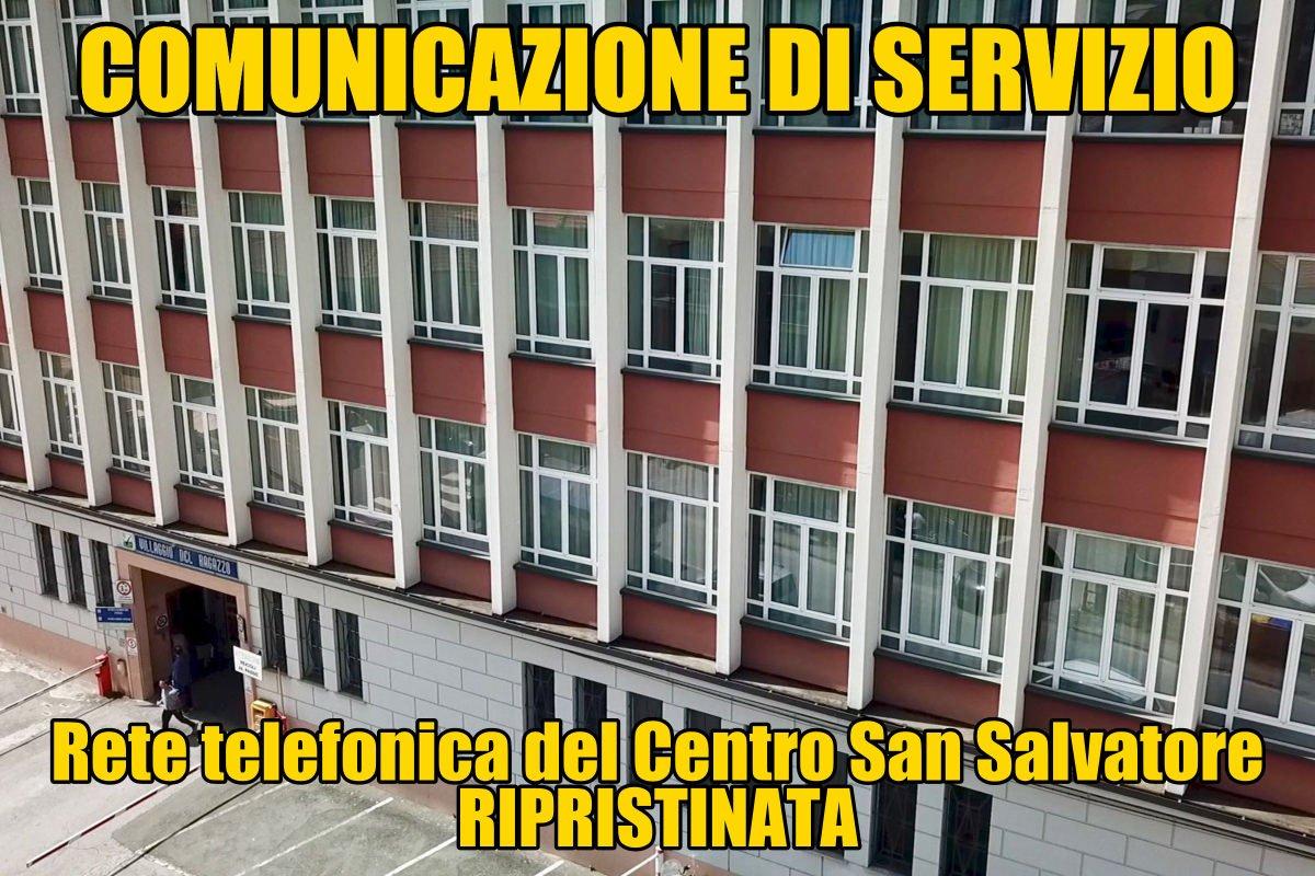 Comunicazione di servizio - Rete telefonica CSS ripristinata