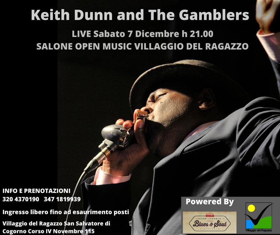 Keith Dunn and The Gamblers in concerto al Centro San Salvatore – Villaggio del Ragazzo sabato 7 dicembre 2019