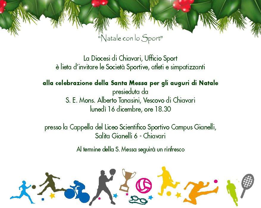 Natale con lo Sport - Invito Sport Messa Natale 2019